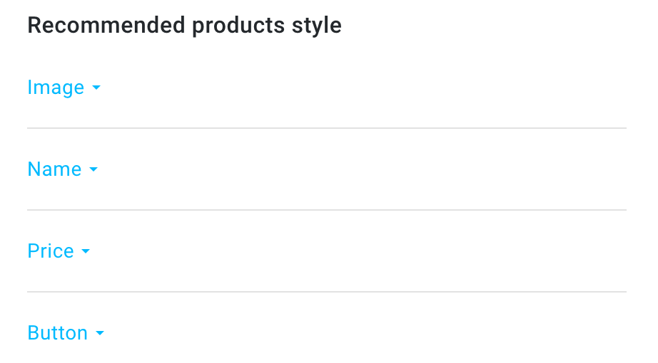 Recommended products style