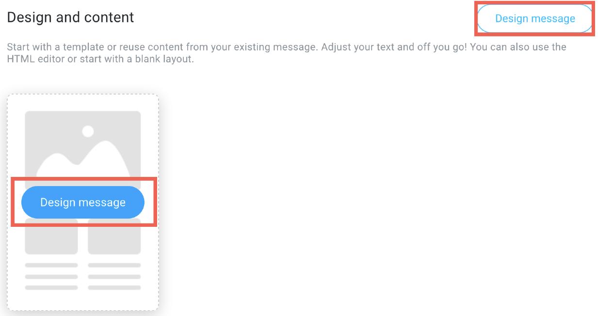 Design message button.