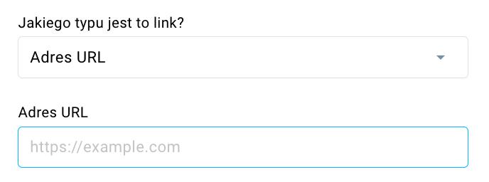 Pole dodania URL