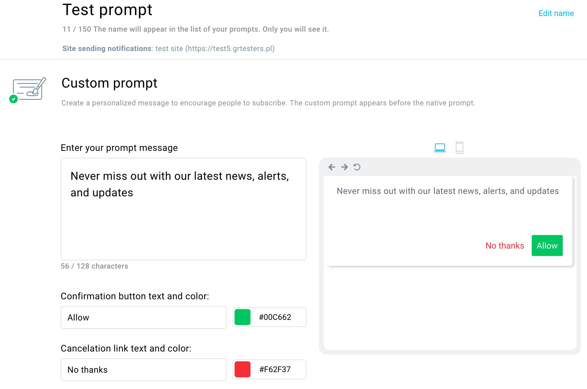 Create a prompt.