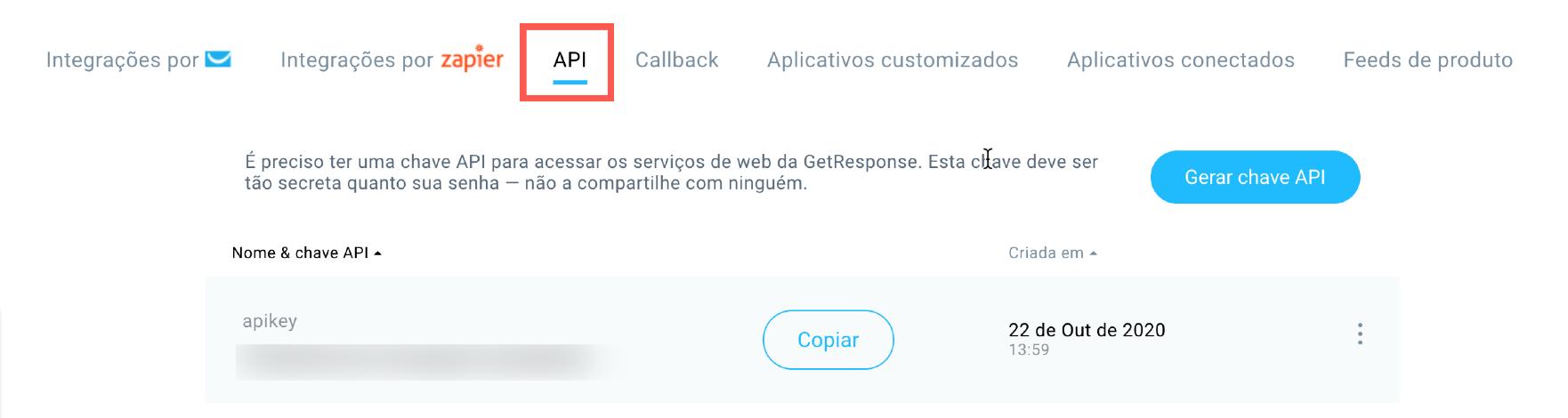 Chave API