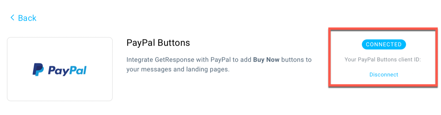 PayPal button integration properly connected shown.