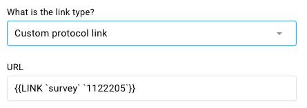 Custom protocol link type.