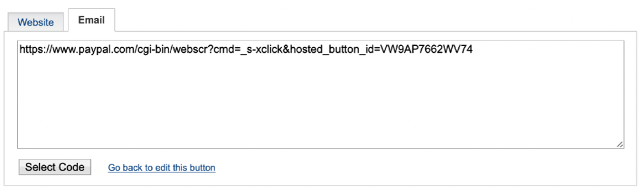вкладка Email