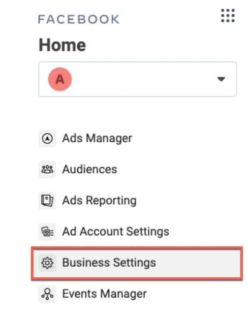 Facebook Business Manager and Business Settings shown