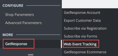 Web event tracking