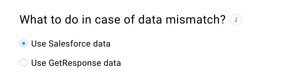 Data mismatch setting
