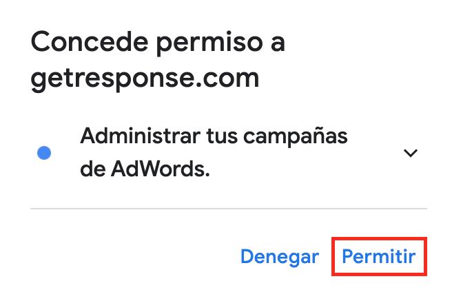 permitir Google Ads