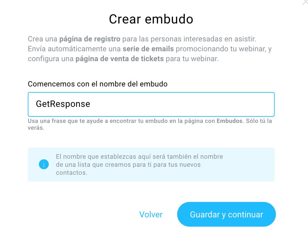 crear embudo webinar pago