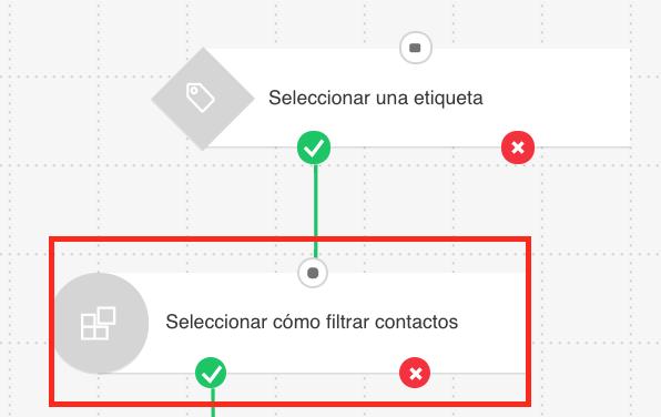 seleccionar cómo filtrar contactos