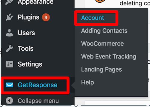 conta no plugin do wordpress