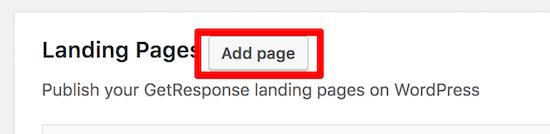 adicionar landing page wordpress