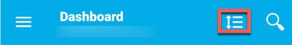 ícone Personalizar painel