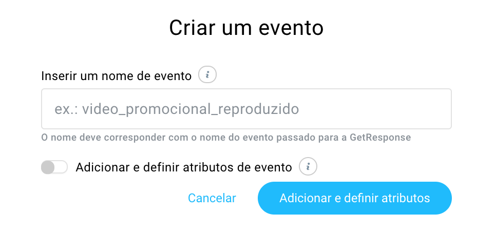 criar evento