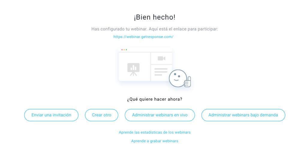 próximos pasos del webinar
