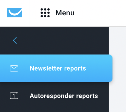 Newsletter and Autoresponder reports tabs shown.