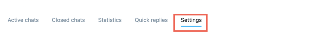 Chat settings tab shown.