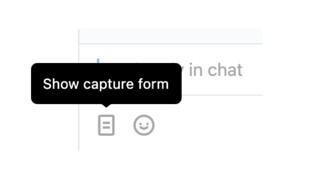 Send visitor capture form icon shown.