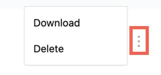 Download chat transcript and Delete chat menu shown.