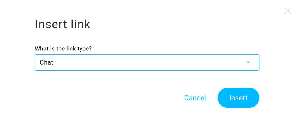 Insert link window shown.