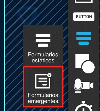 formularios emergentes en la landing page