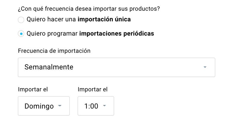 Frecuencia de importación