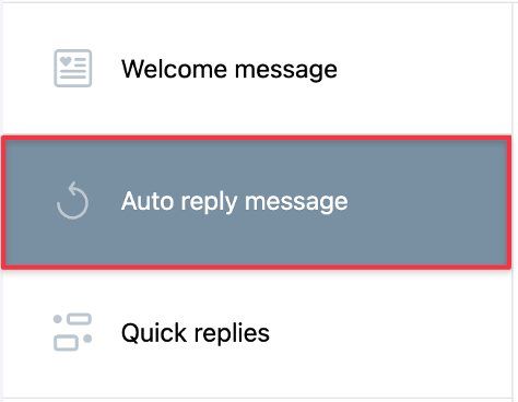 Auto reply message tile shown.