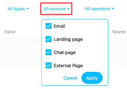 All sources filter and options shown.