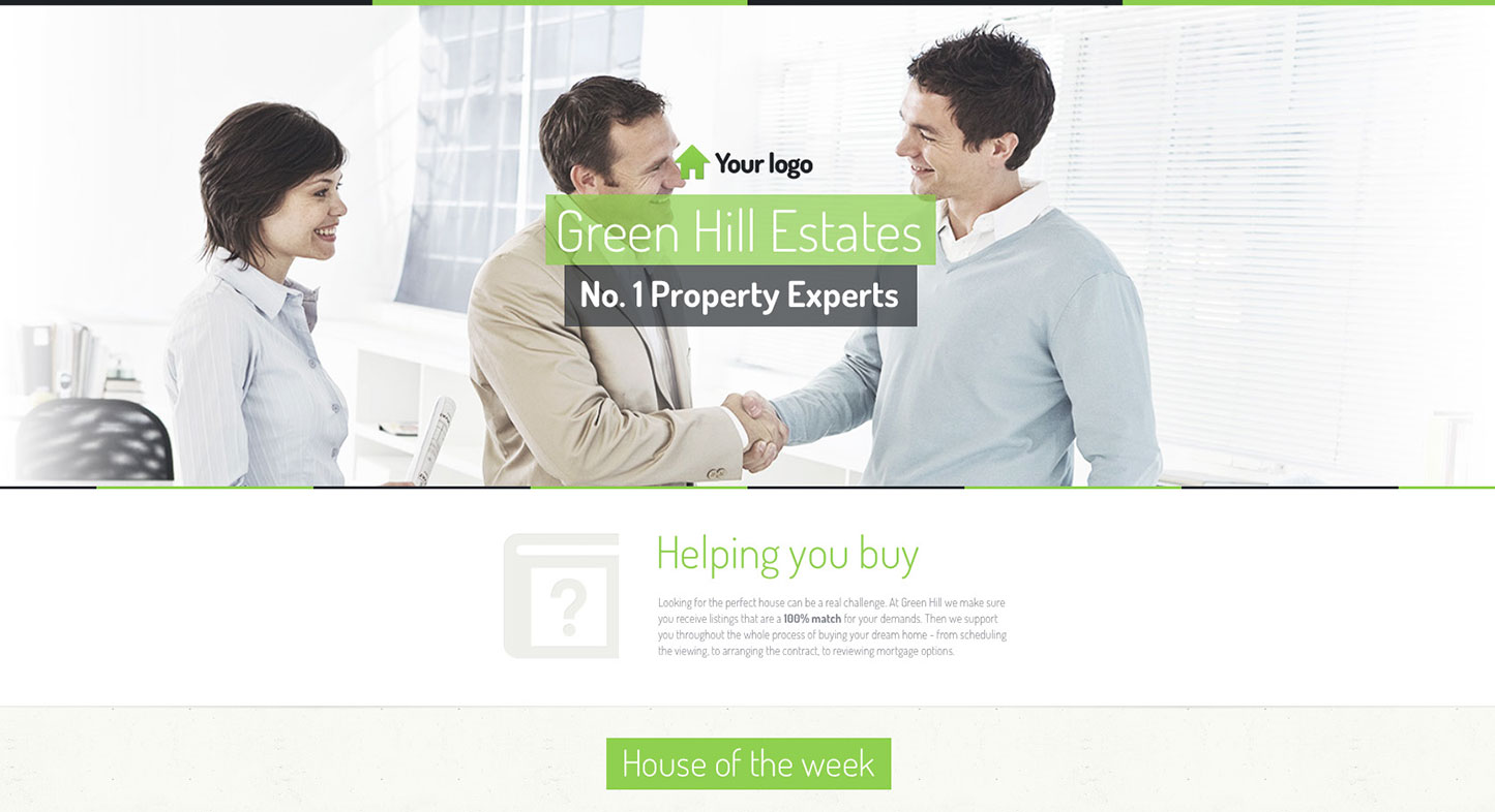 Picture #1 - Landing page example, made in GetResponse Landing Page Creator.
