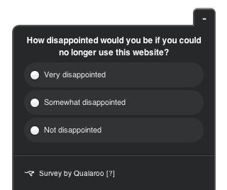 Zdj 1. Ankieta stworzona w Qualaroo