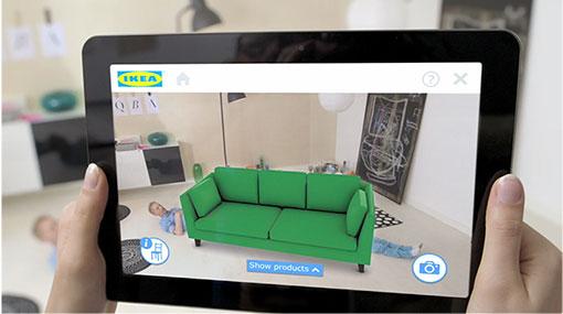 Zdj. 4 Aplikacja rzeczywistości rozszerzonej IKEA