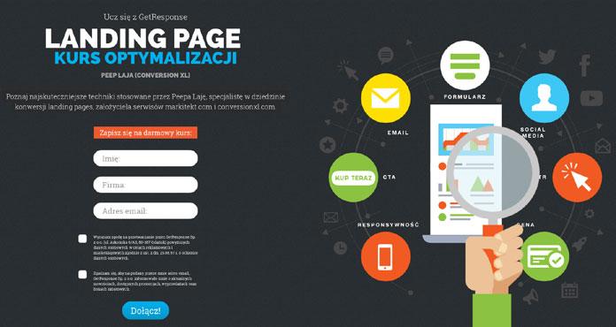 Zdj 4. Landing Page kurs o optymalizacji stron docelowych GetResponse