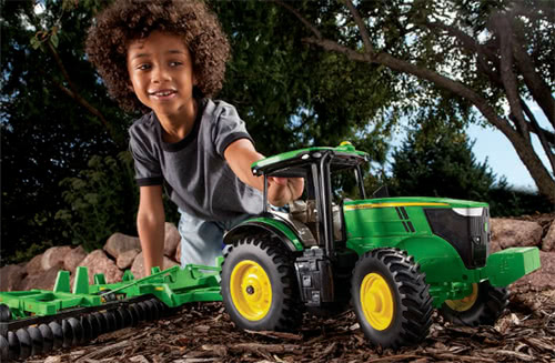 Img 2. John Deere replica toys photo from the Furrow Magazine, December 2014