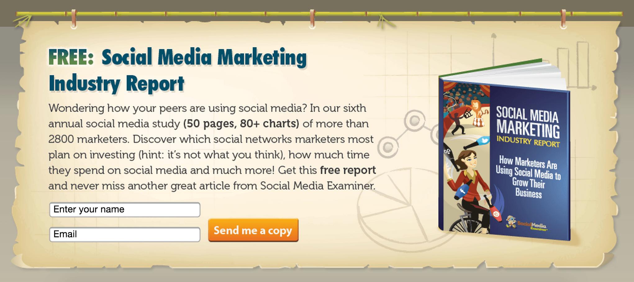 Img 5. Social Media Examiner Free Report on Social Media Marketing