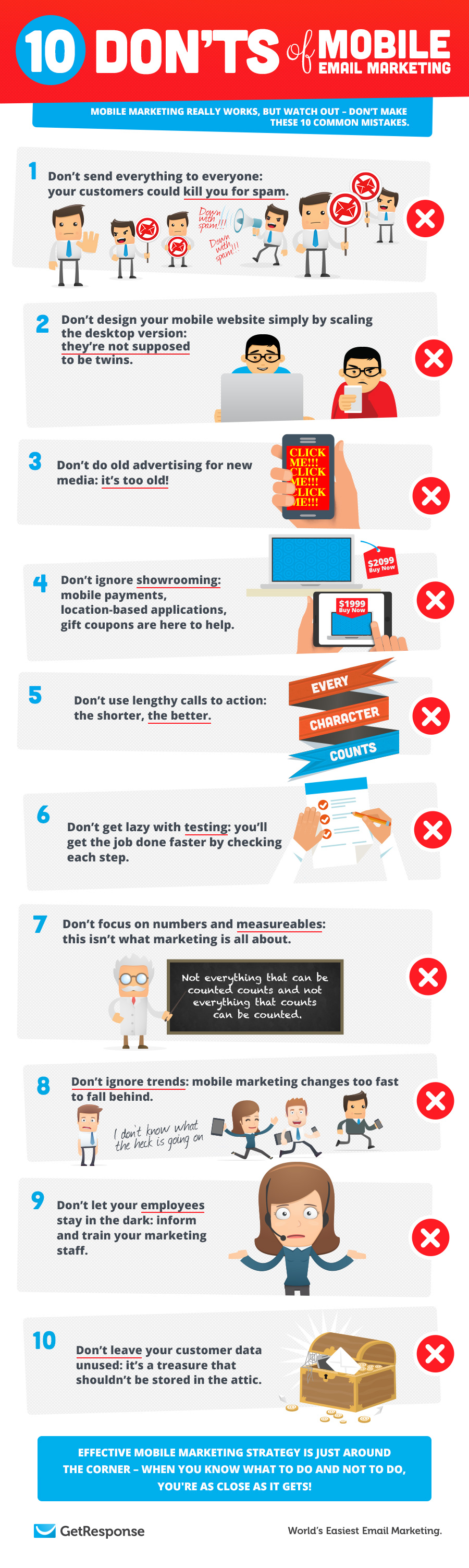 10 Don'ts of Mobile Email Marketing
