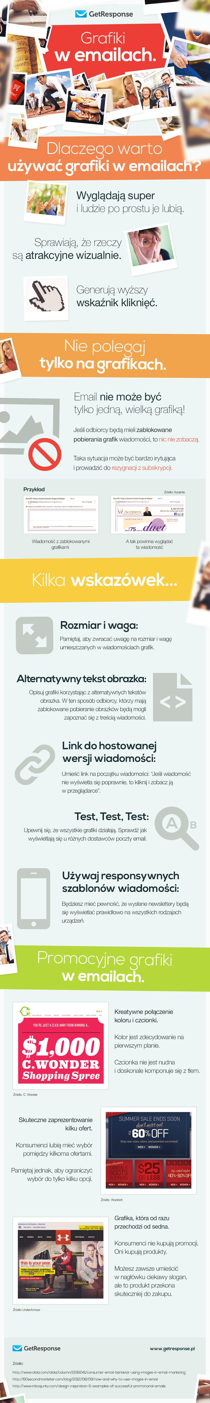 Grafiki w newsletterze.