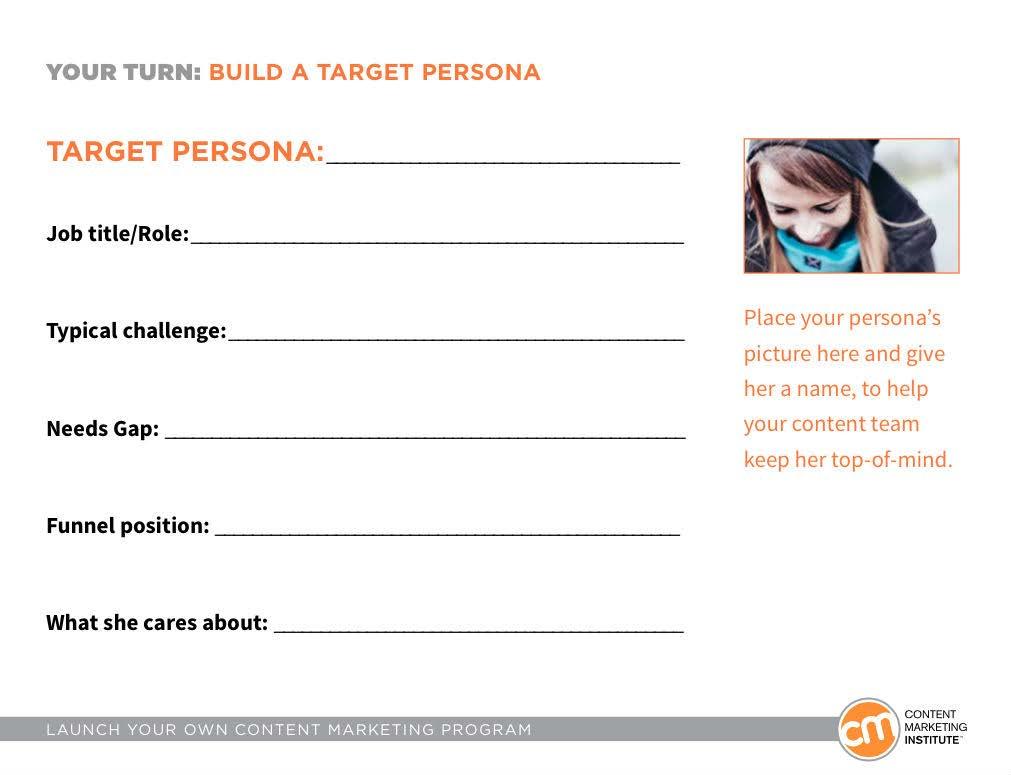 Zdj. 9 Szablon ułatwiajacy stworzenie persony klienta