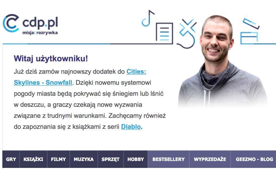 Zdj. 16 Fragment wiadomości od CDP.pl