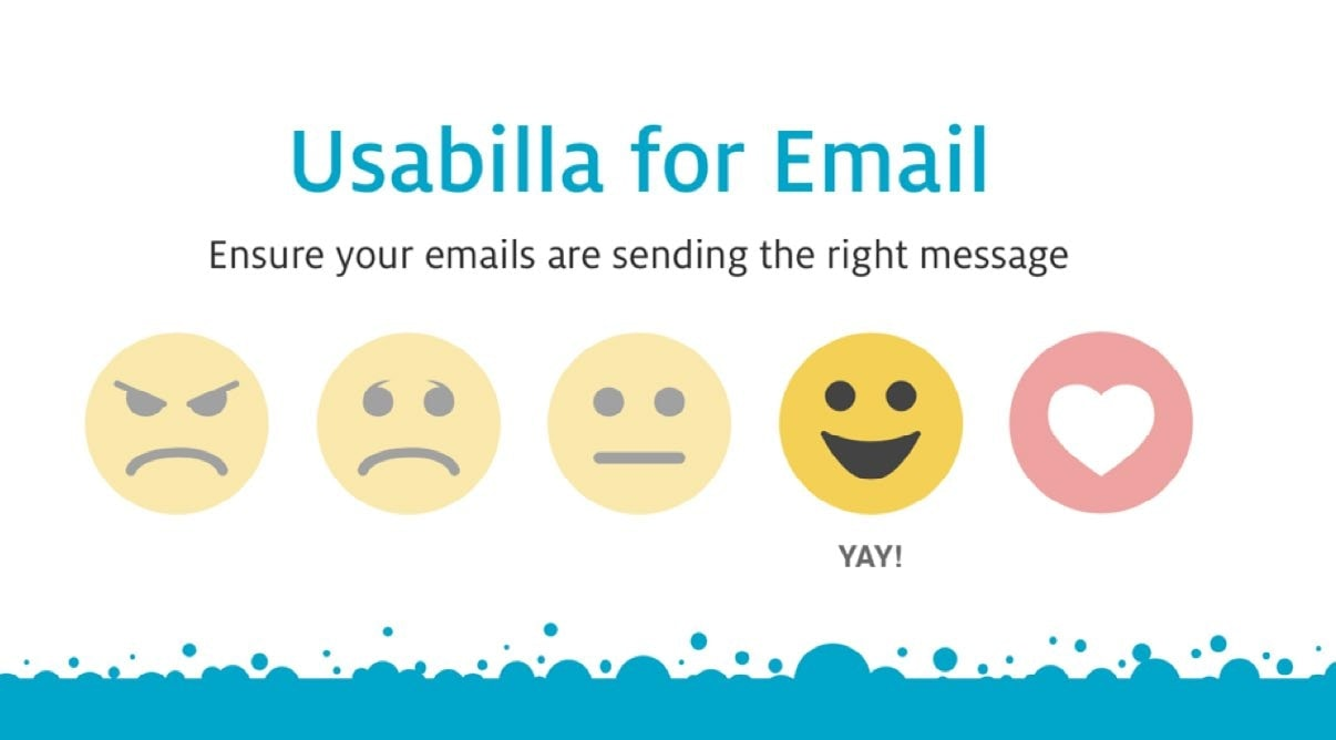Img. 6 - Usabilla allows you to complete a quick satisfaction survey with emojis.