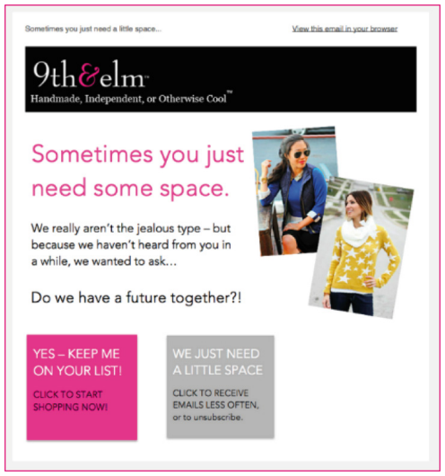 How cool is this re-engagement email?