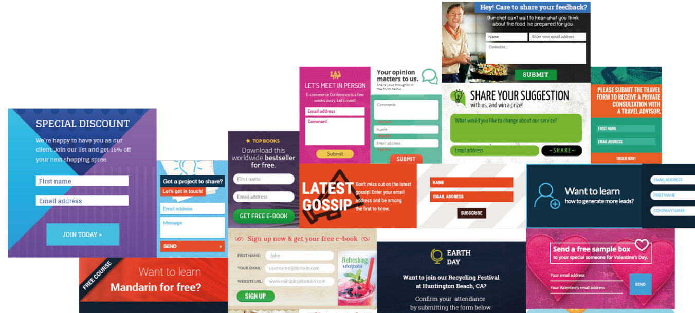 GetResponse oferuje ogromny wybór gotowych formularzy, które możesz wykorzystać od ręki lub dopasować do swoich potrzeb.