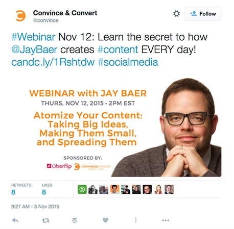 Creating marketing assets to promote the webinar