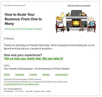 Post-webinar Communication