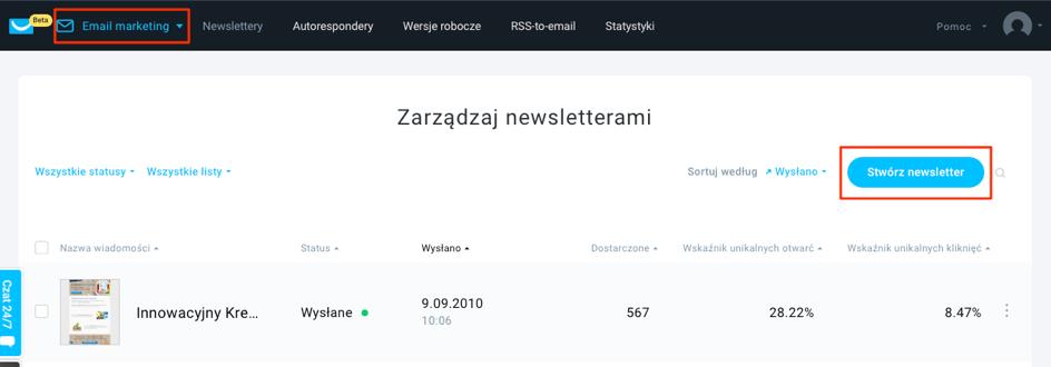 cf29e0bd235a52 Możesz zaprojektować newsletter od początku lub wykorzystać jeden z setek  gotowych szablonów. Dodaj pole tekstowe i wklej skopiowany tekst w wybranym  ...