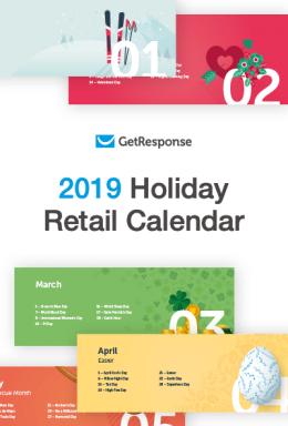 2019 Holiday Retail Calendar