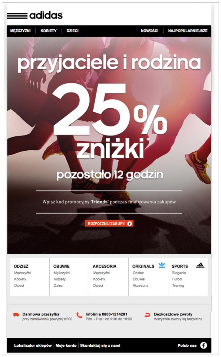Grafika 1 - Newsletter firmy Adidas