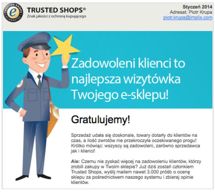 Grafika 6 - Newsletter Trusted Shops
