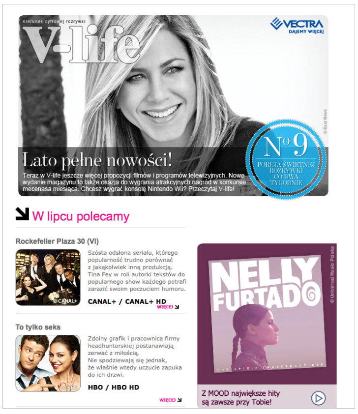 Grafika 7 - Newsletter Vectra