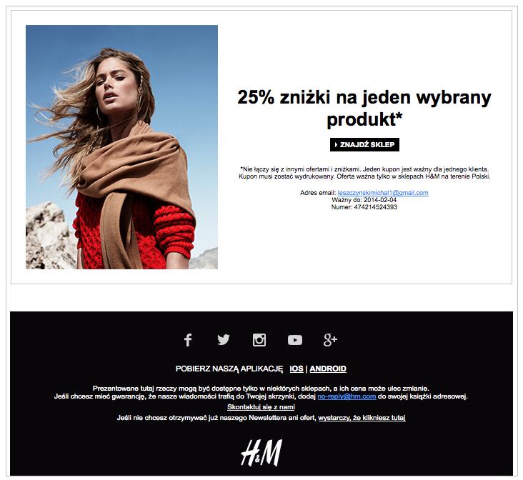 Grafika 10 - Newsletter H&M