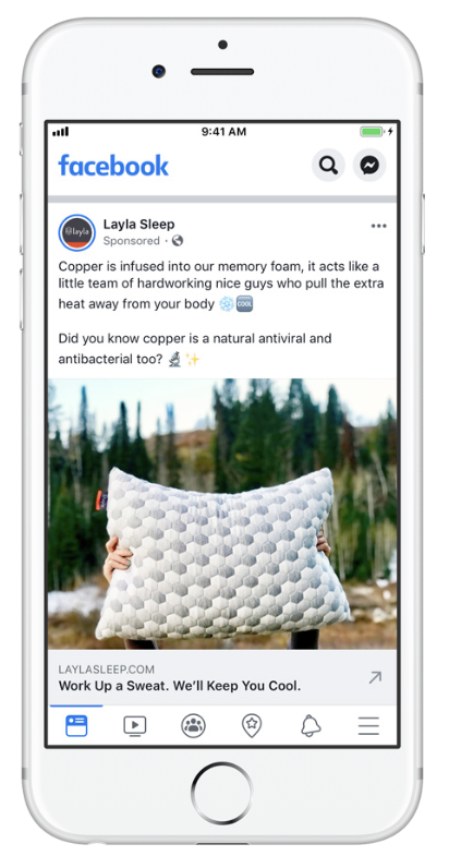 An ecommerce Fb ad example.